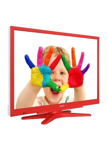 """Vestel 22F8500 22"""" Full HD TV Kırmızı Renkli"""